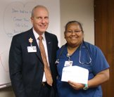 Ruth Castro Santana receives the Grateful Patient Award.