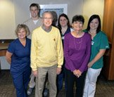 Amber Sleeth Williams, Cortney Runyan and Brigett Lebeau Messa receive Grateful Patient Awards.