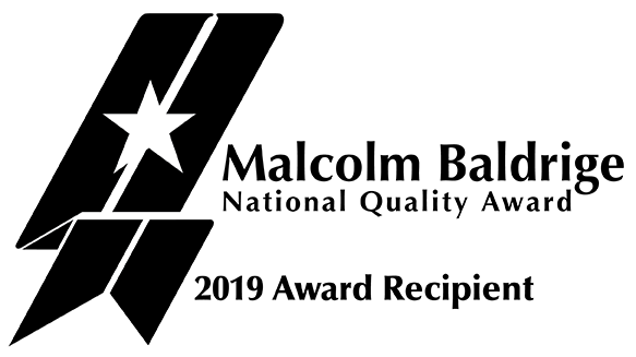 Mary Greeley Receives 2019 Baldrige National Quality Award Logo
