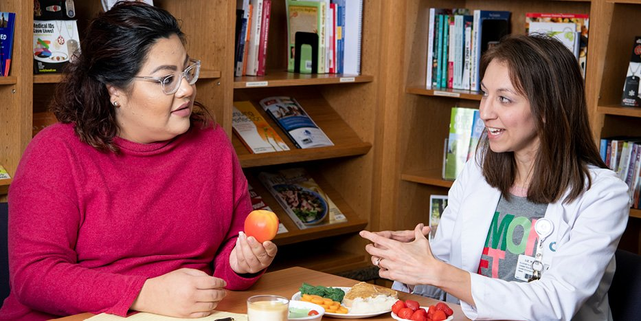 Liz Burkland, a Registered Dietitian at Mary Greeley, works with patients to prevent Type 2 Diabetes.
