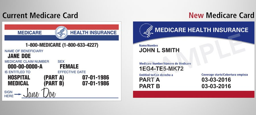 New Medicare Card compared to the current medicare card.