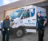 A Better Ambulance Thumbnail - Mary Greeley EMS employees pictured a new Mary Greeley Ambulance