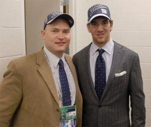 Dr. Warme with Eli Manning