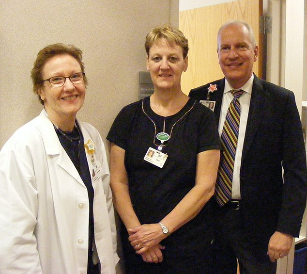 Pictured are: Dr. Debra Prow, Dana Sprecher and Brian Dieter