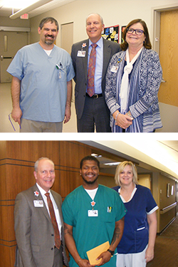 Pictured are: Dr. Jeremy Fields, Jane Jackson RN, Shelly Nagel RN and Shakir Spells PCT