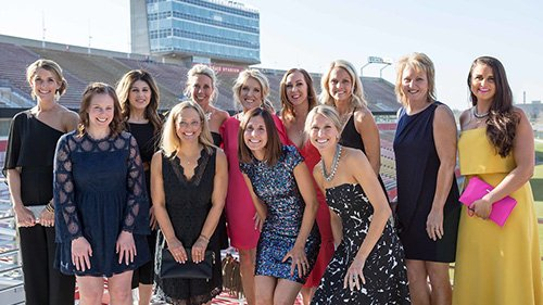 2018 Hope Gala Planning Committee Group Photo at the Iowa State University Sukup Endzone Club