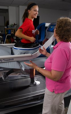 AlterG at Mary Greeley Medical Center Physical Therapy in Ames, Iowa