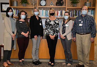 Cancer Resource Center Staff wearing masks.