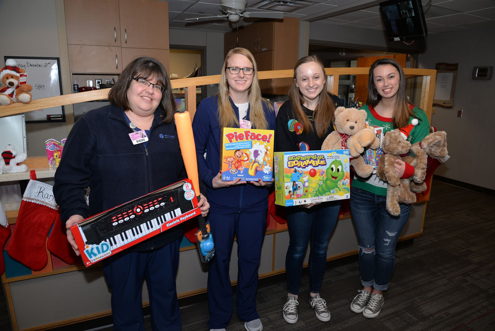 Jewell High School Pediatrics Toy Donation 2017