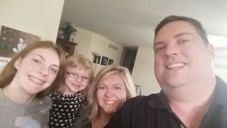 Last family selfie of four