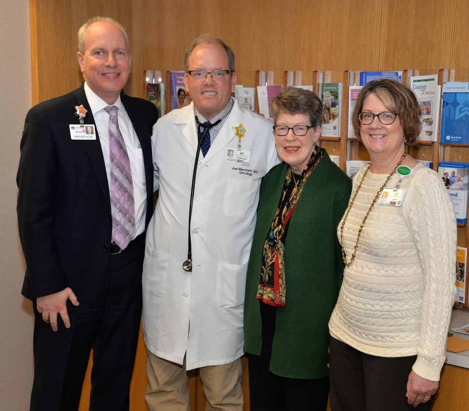 Pictured are: Brian Dieter, Dr. Merchant, Rae Reilly, Lynn Lanning
