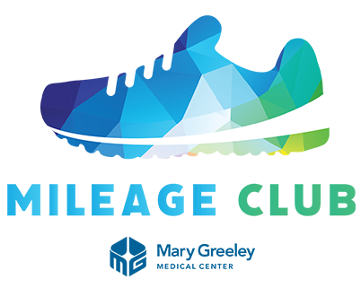 Mileage Club Logo - colorful running shoe