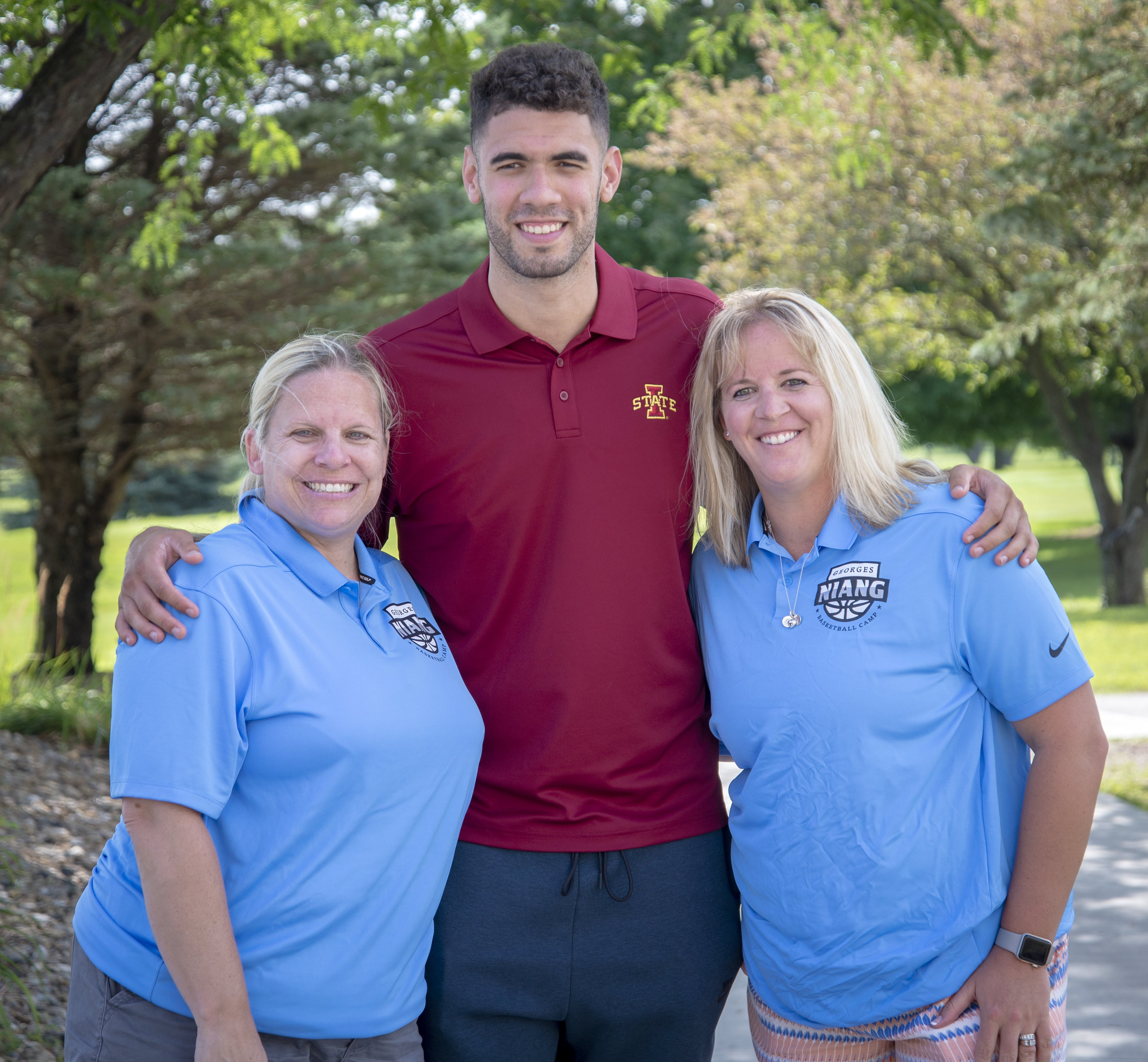 Georges Niang Golf Outing-Georges Niange with Event co-chairs Lyndsey Fennelly & Betsy Waite