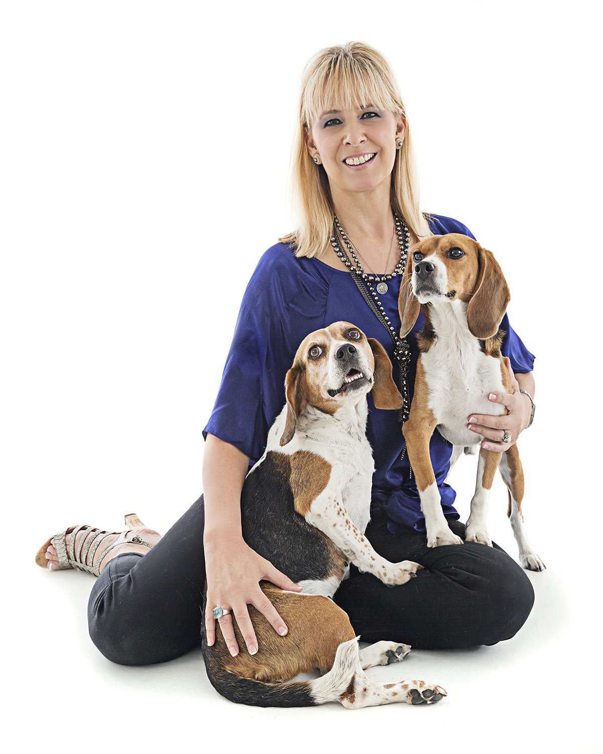 Teresa Rhyne with her two dogs
