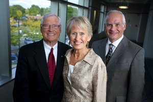 Extraordinary Visions Co-Chairs Dan and Sharon Krieger and Dr. Jon Flemming