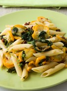 Braised Squash and Greens Penne
