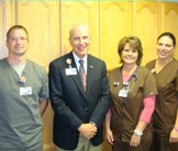 Amy Gustoff, Sharilyn Kadolph and Jason Holland receive Grateful Patient Awards