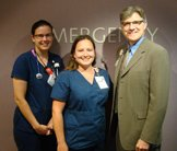 Shelley Sedivy and Karen Crosser receive Grateful Patient Awards